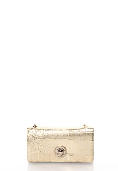 FashionDays.ro: Portofel tip geanta plic auriu cu model crocodil VERSACE JEANS
