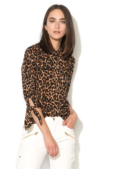 Juicy Couture Camasa muliticolora cu animal print Ellie