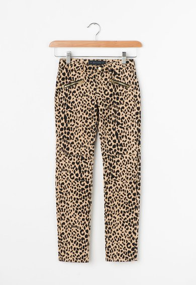 Juicy Couture Pantaloni skinny cu animal print