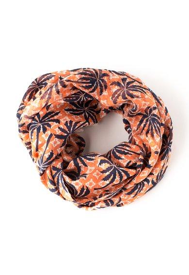 Juicy Couture Esarfa oranj de matase cu palmieri