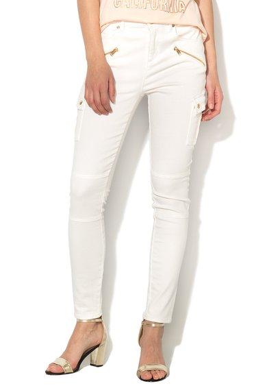 Juicy Couture Jeansi skinny albi cu buzunare laterale Angel