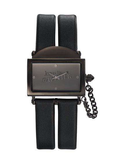Jean Paul Gaultier Ceas negru cu o curea dubla 325