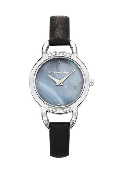 Ceas negru cu argintiu Signature de la Ted Lapidus