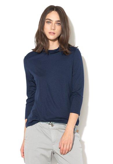 Bluza bleumarin cu guler inalt