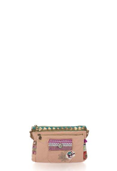 Geanta crossbody roz piersica prafuit Toulouse de la Desigual