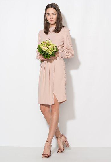 Zee Lane Collection Rochie roz prafuit cu slit frontal