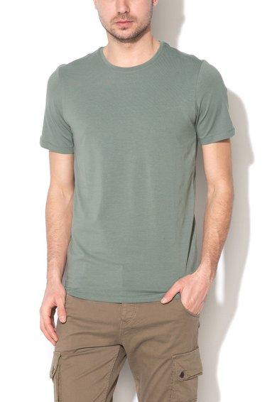 JackJones Tricou basic slim fit verde marin Pima