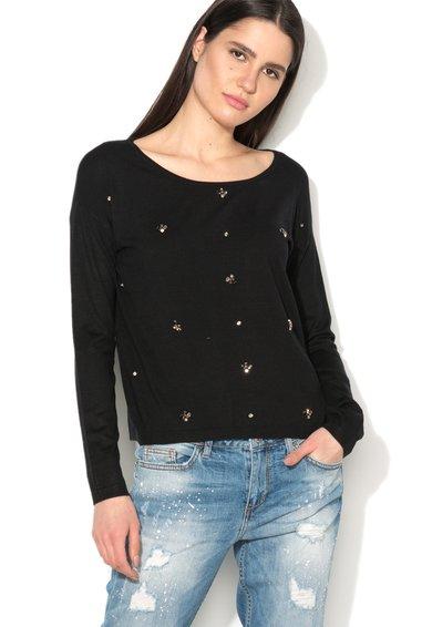 FashionDays.ro: Pulover negru cu strasuri Liu Jo