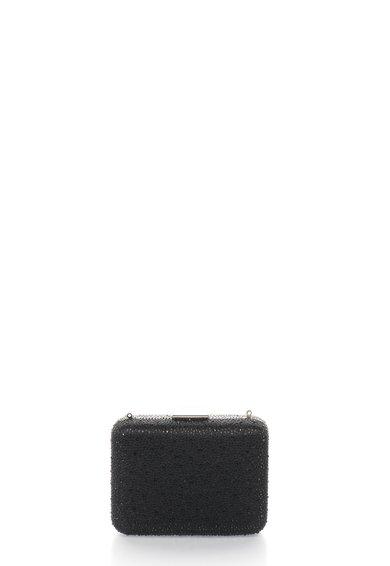 FashionDays.ro: Geanta plic minaudière negru cu argintiu si strasuri Liu Jo