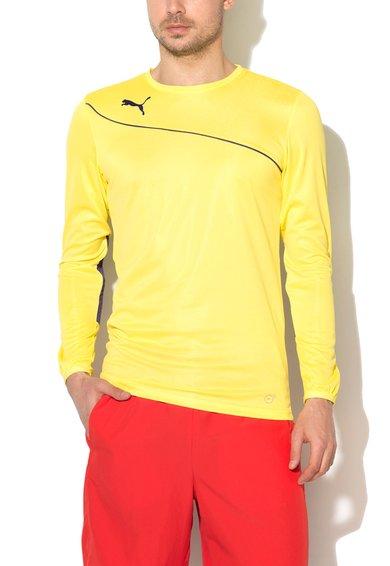 Puma Bluza sport galben cu violet cu aplicatii in zona coatelor