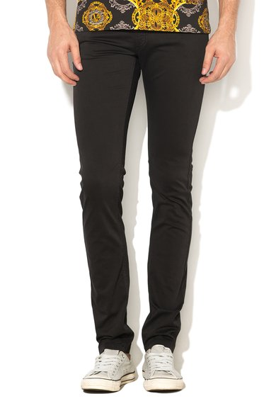 FashionDays.ro: Pantaloni skinny negri VERSACE JEANS