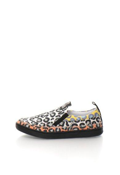 FashionDays.ro: Pantofi slip-on multicolori cu animal print Love Moschino