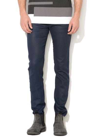 FashionDays.ro: Jeansi skinny bleumarin cu aspect peliculizat 247 Diesel Black Gold