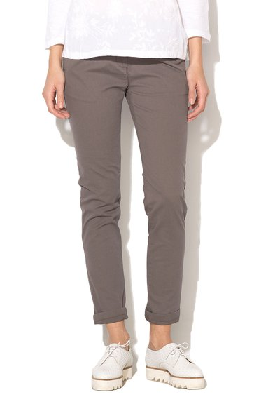 Pantaloni conici gri slim fit Meridian de la Napapijri