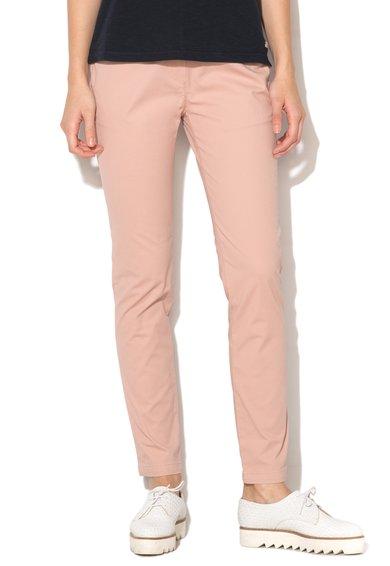 FashionDays.ro: Pantaloni conici roz pal slim fit Meridian Napapijri