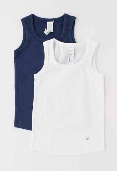 Set bleumarin cu alb de topuri – 2 piese de la Undercolors of Benetton