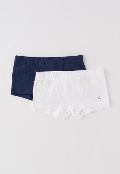 Set alb cu bleumarin de boxeri – 2 perechi de la Undercolors of Benetton