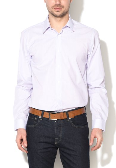 Camasa regular fit lila cu alb in dungi de la United Colors Of Benetton