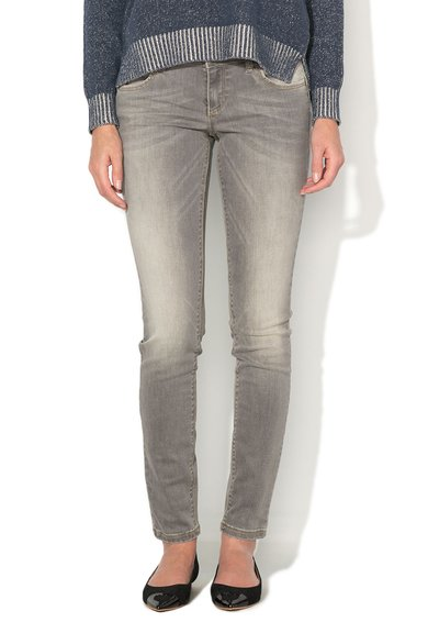 United Colors Of Benetton Jeansi skinny gri cu aspect decolorat