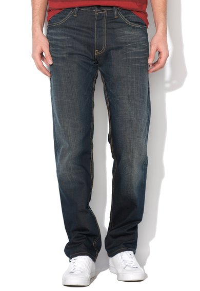 FashionDays.ro: Jeansi drepti albastru inchis regular fit 504 Levis