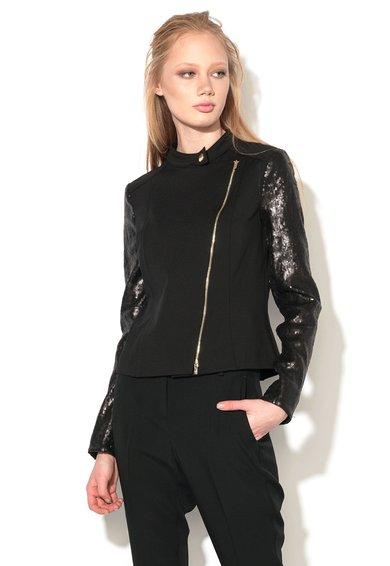 Jacheta neagra cu paiete pe maneci Raccolta de la Pennyblack