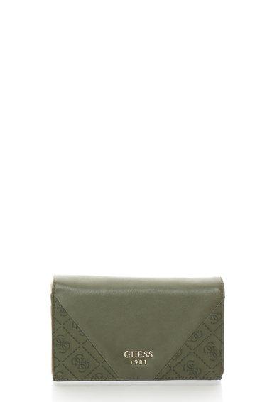 FashionDays.ro: Portofel acordeon verde oliv cu clapa GUESS