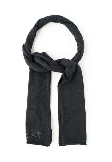 GUESS JEANS Fular negru cu aplicatie cu strasuri