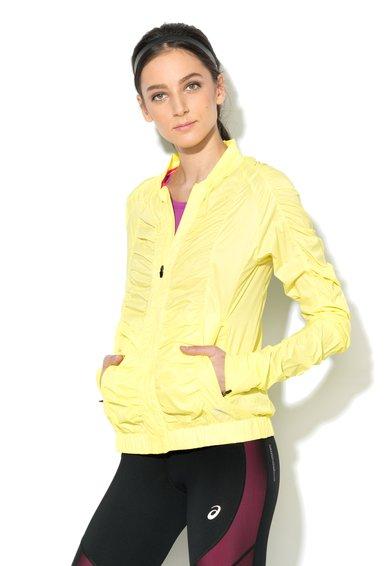 FashionDays.ro: Jacheta galben aprins cu drapaje si fermoar Asics