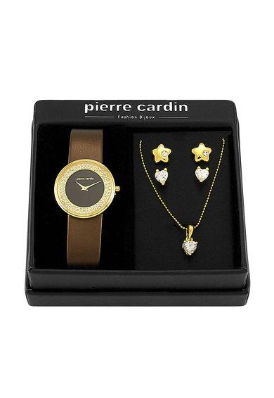 Pierre Cardin Set maro cu auriu de bijuterii