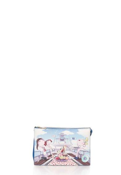 Geanta multicolora cu imprimeu de la Love Moschino