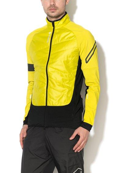 FashionDays.ro: Jacheta pentru antrenament verde chartreuse cu negru slim fit Reebok