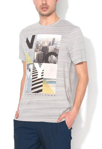 FashionDays.ro: Tricou gri melange cu imprimeu grafic EDC by ESPRIT
