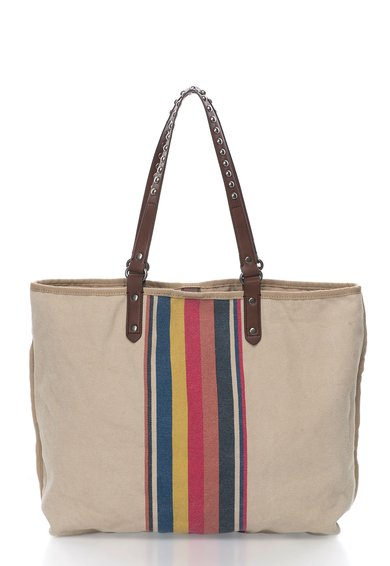 Geanta shopper bej cu model multicolor de la EDC by ESPRIT