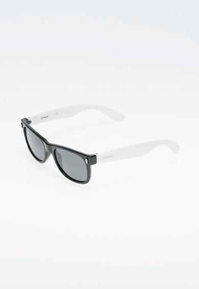 FashionDays.ro: Ochelari de soare negru cu alb si lentile polarizate Polaroid