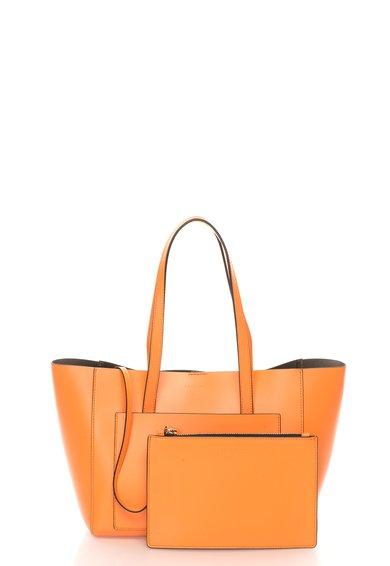 FashionDays.ro: Geanta oranj de piele cu portofel detasabil Kim COCCINELLE