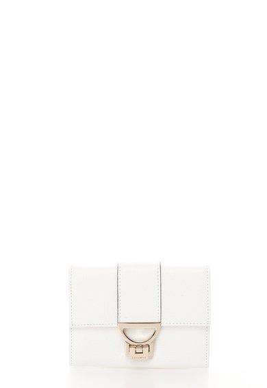 FashionDays.ro: Portofel mic alb din piele texturata COCCINELLE