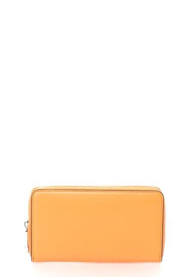 FashionDays.ro: Portofel oranj mandarina de piele cu fermoar COCCINELLE