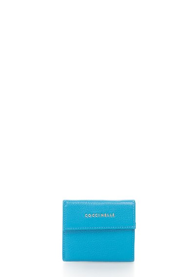 FashionDays.ro: Portofel pliabil mic albastru cu capsa COCCINELLE