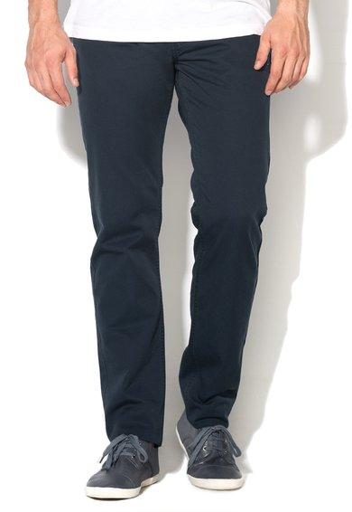 Pantaloni slim fit bleumarin cu croiala dreapta