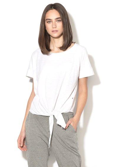 FashionDays.ro: Tricou alb cu nod la terminatie Biko Big Star