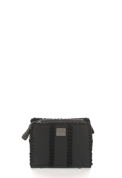 Geanta neagra cu detalii de piele intoarsa Aliya de la Pepe Jeans London