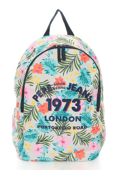 Pepe Jeans London Rucsac multicolor cu imprimeu tropical Natasha