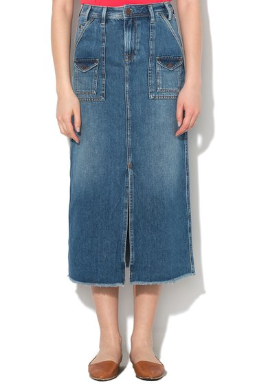 Pepe Jeans London Fusta lunga regular fit albastru inchis din denim Pippa Femei image_1