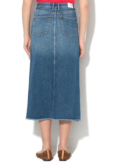 Pepe Jeans London Fusta lunga regular fit albastru inchis din denim Pippa Femei image_2