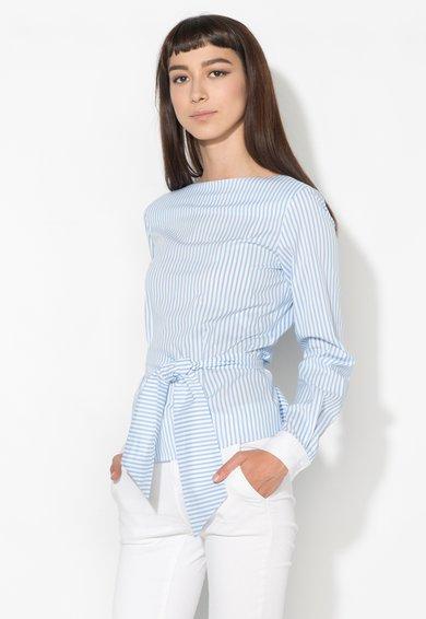 Zee Lane Denim Bluza albastru cu alb in dungi cu spate decupat