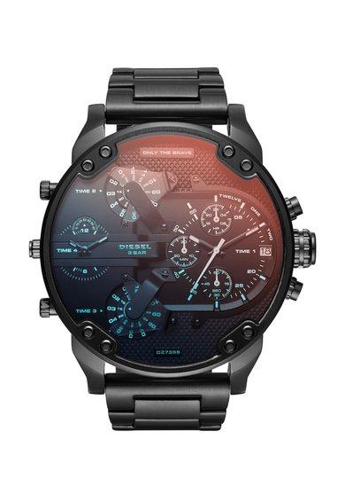 Diesel Ceas cronograf negru cu geam cu irizatii