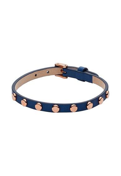 FashionDays.ro: Bratara albastru inchis cu nituri auriu rose Fossil