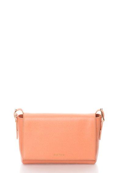 FashionDays.ro: Geanta crossbody roz somon de piele saffiano Flo COCCINELLE