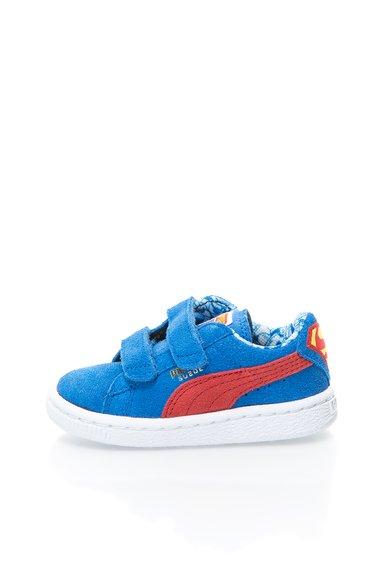 Tenisi albastri din piele intoarsa Superman