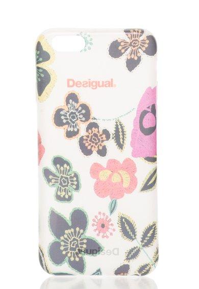 FashionDays.ro: Carcasa alb transparent cu model floral pentru iPhone 6 Desigual